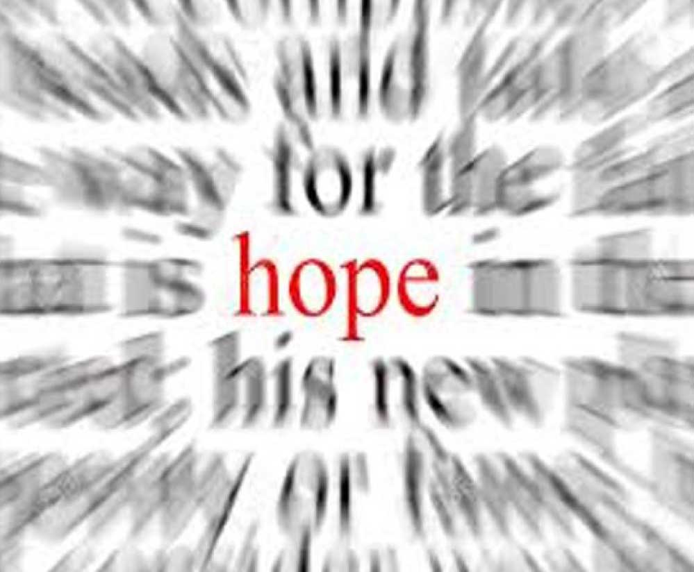 hope in red type